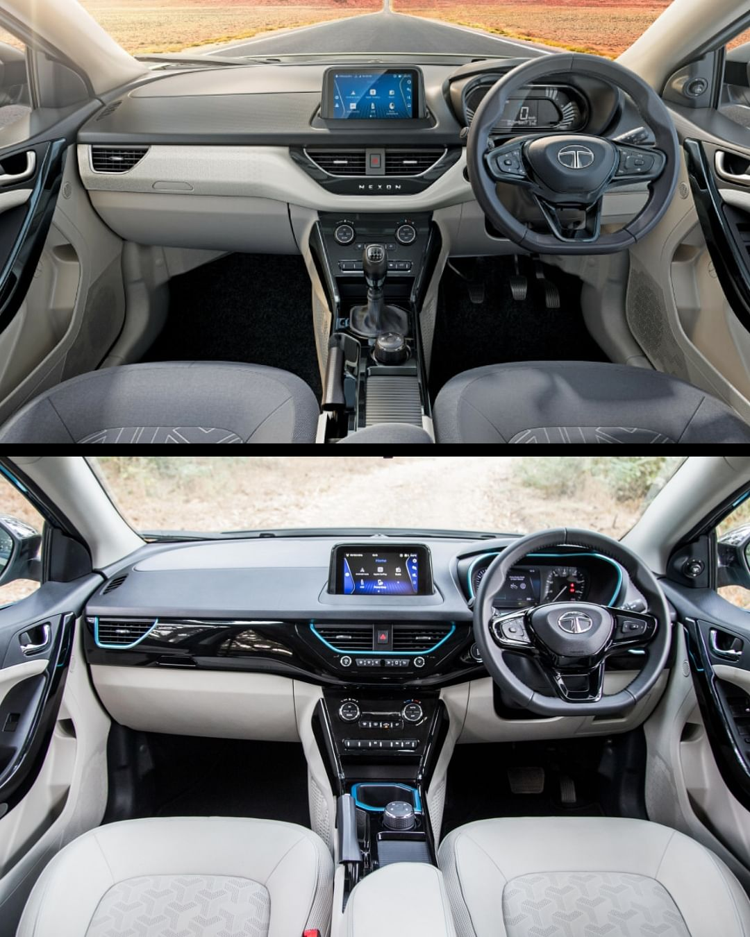 The layout is almost same with same features in both cars, except the absence of TPMS and Xpress cool feature in the EV
