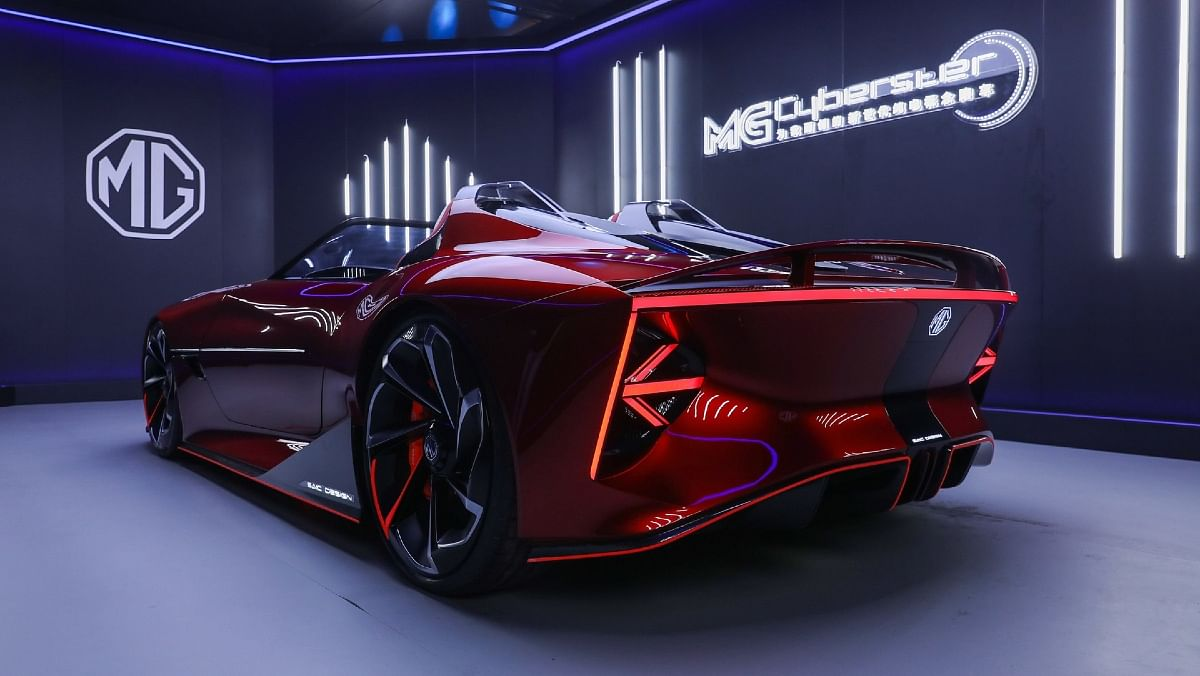 LED tailamps are integrated into the rear with a thin LED strip connecting the two