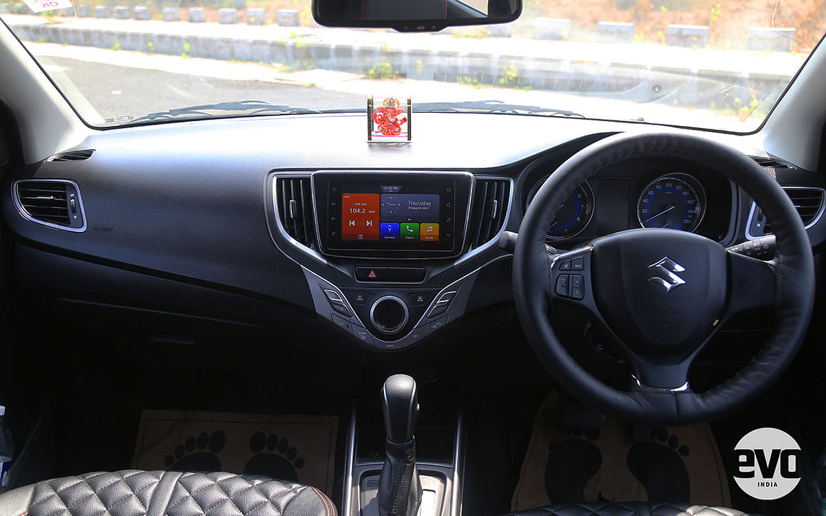 The Baleno gets a more dynamic dash design with better quality buttons