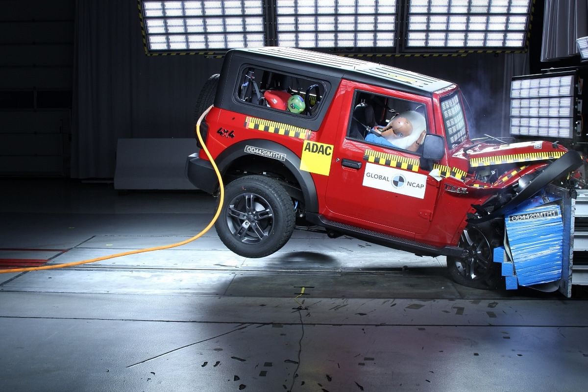 The Mahindra Thar bagged a solid four-star adult occupant safety rating