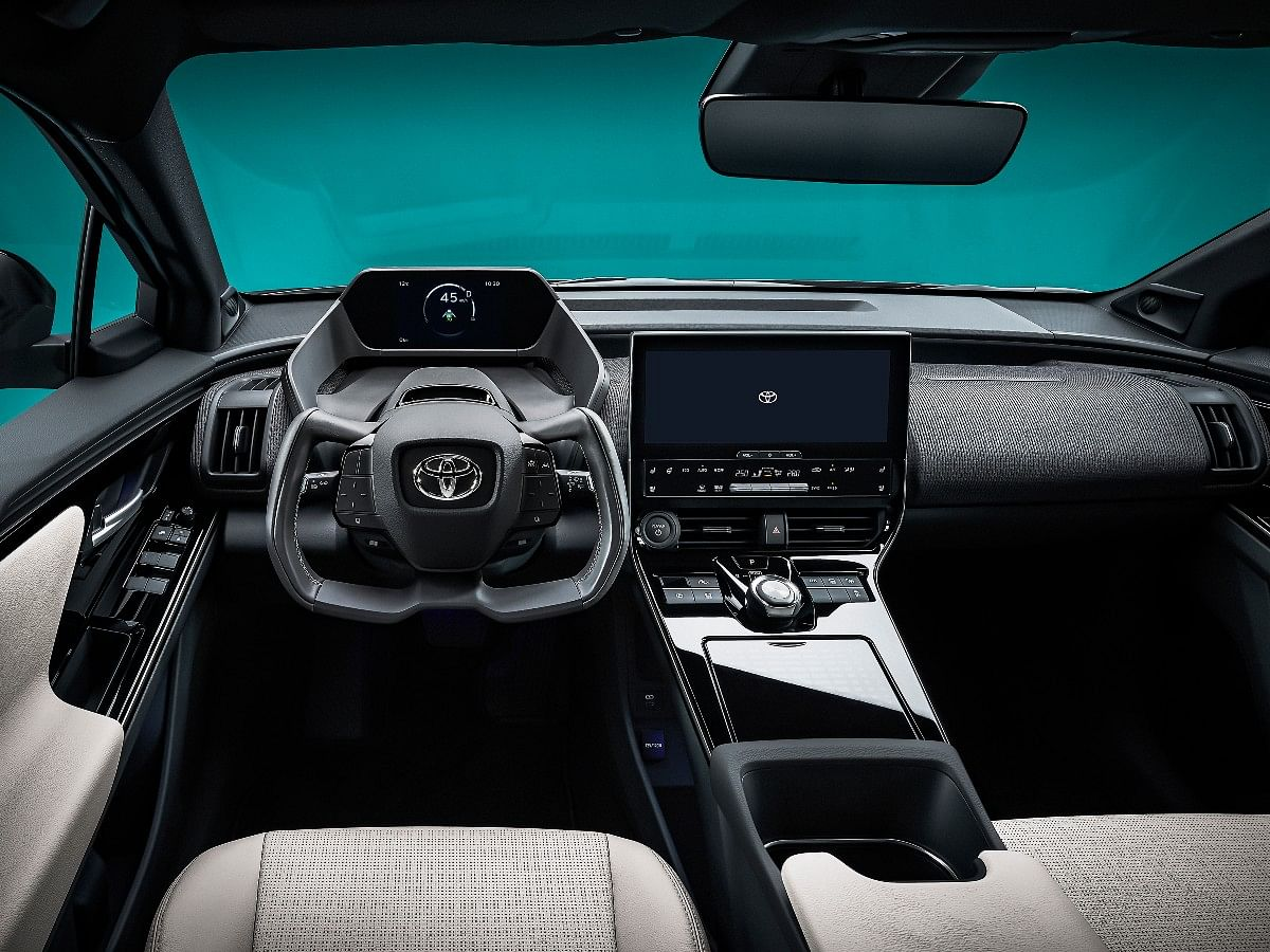The Toyota bZ4X concept gets an aircraft-yoke style steering wheel
