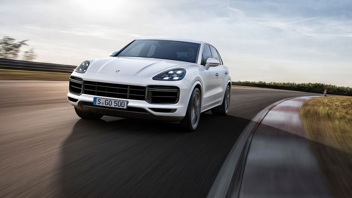 The Porsche Cayenne Turbo is powered by a 4-litre twin-turbo V8  with 542bhp