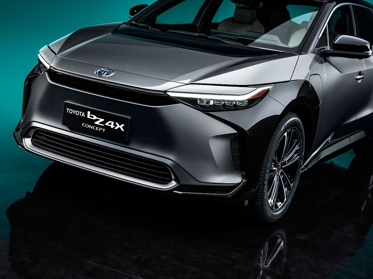 The bZ4X concept gets Toyota's Hammerhead front design
