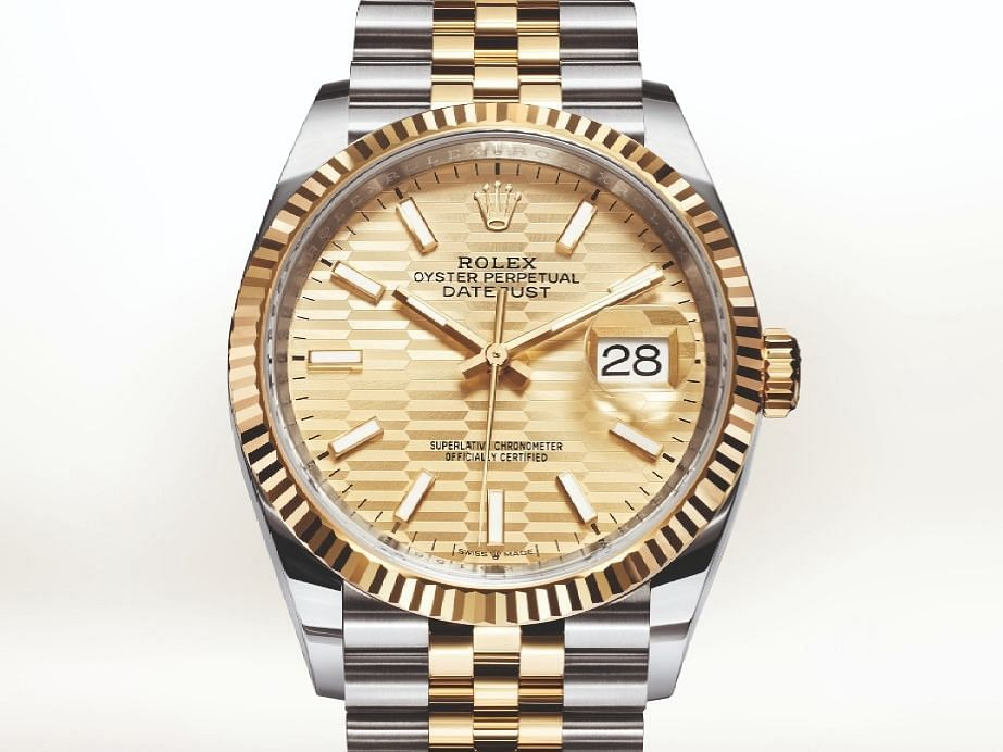 2021 Rolex Oyster Perpetual Datejust 36 with Oystersteel and yellow gold