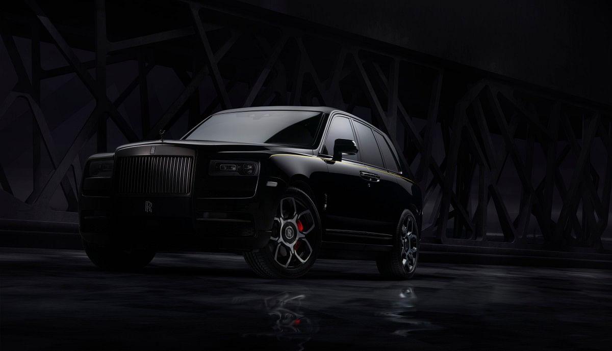 The Rolls Royce Cullinan Black Badge gets dark highlights inside out