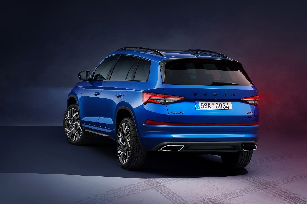 2021 Skoda Kodiaq gets a gloss black diffuser and more aerodynamic elements that reduce drag