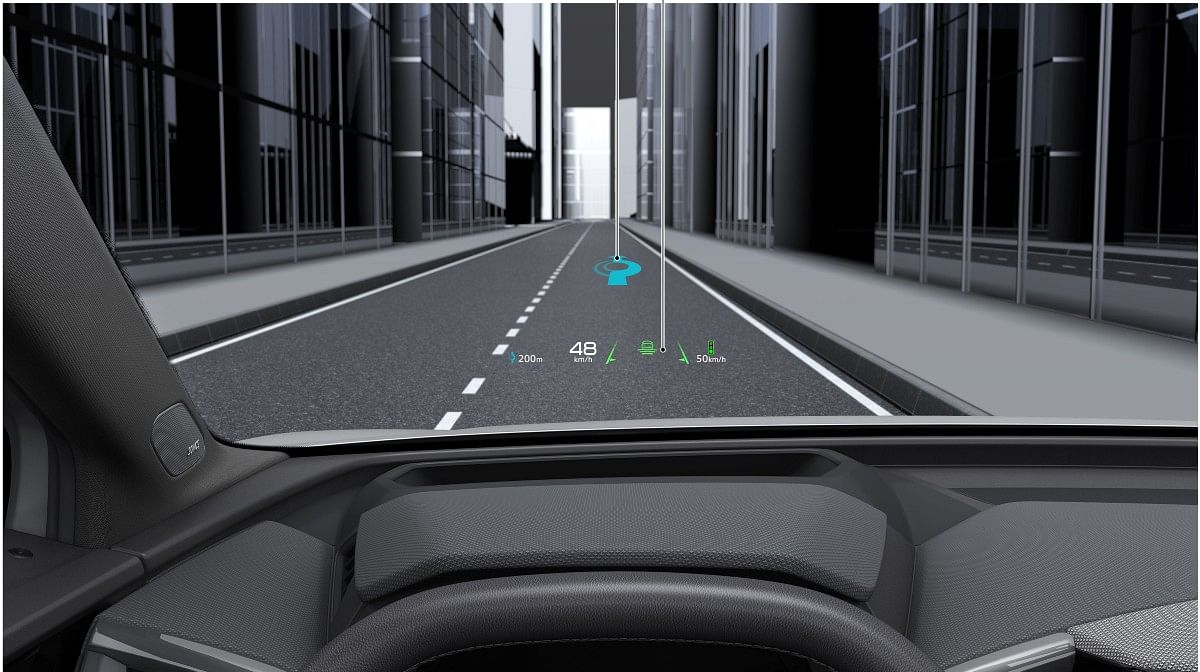 The Audi Q4 e-tron gets an augmented reality heads-up display