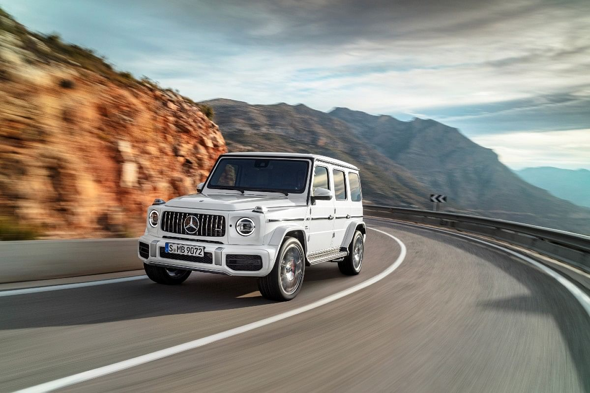 The AMG G 63 gets new bumpers and a much modern look courtesy new headlights and other minor refinements