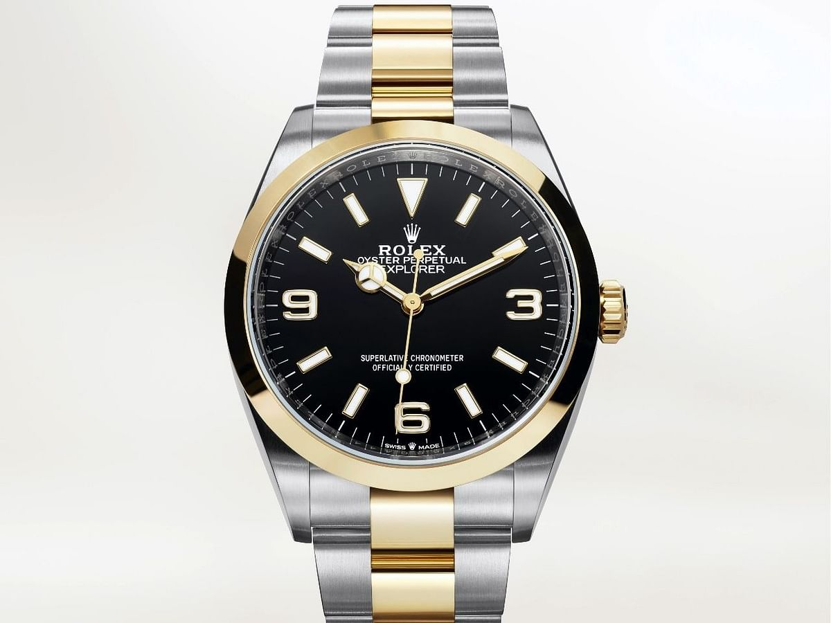 2021 Rolex Explorer in Oystersteel and yellow gold