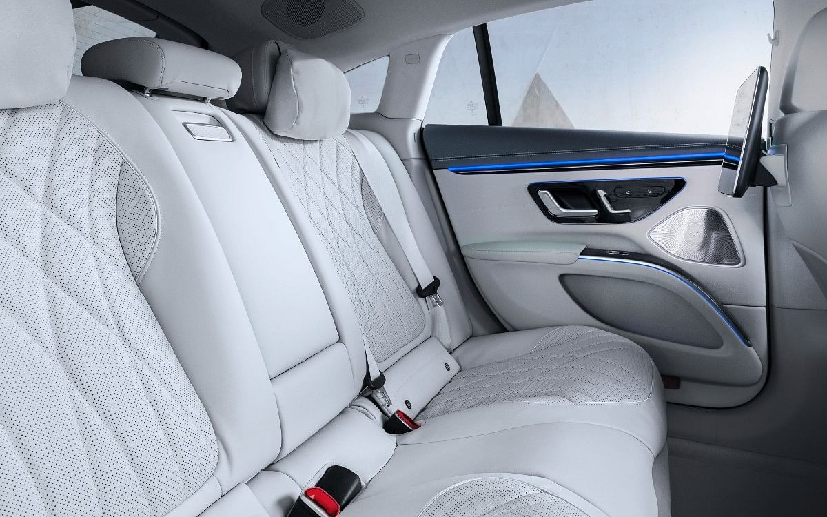The Mercedes EQS gets perforated leather upholstery