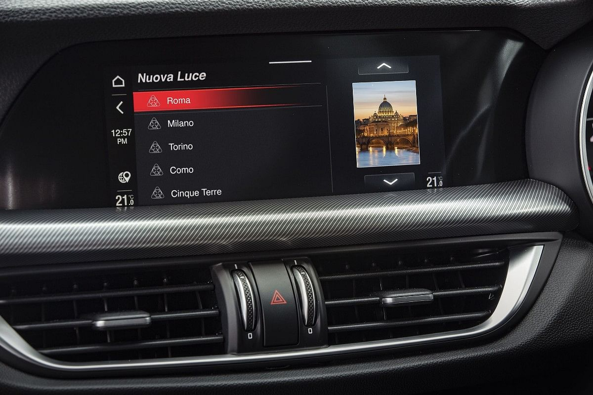 Changes were made to the infotainment system to include the various filter options