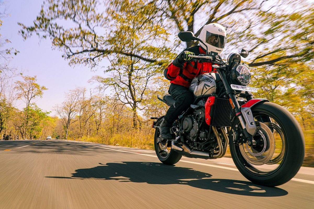 Unless in slippery conditions, the Trident 660 is best kept in Road mode