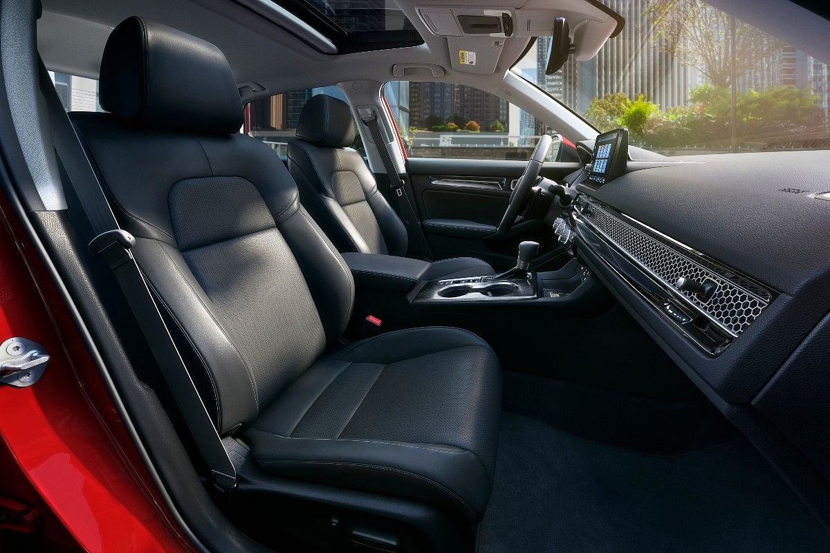 The Honda Civic gets power front seats with leather upholstery