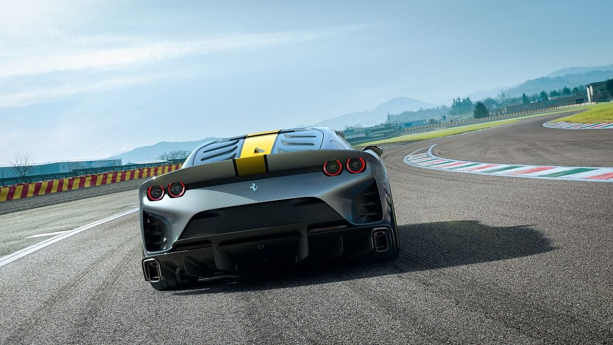 The Ferrari 812 Competizione gets a ducktail style rear spoiler