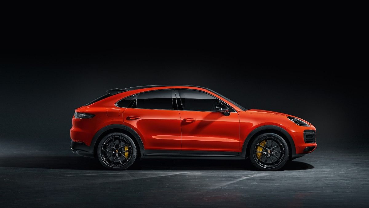 The Porsche Cayenne Coupe Turbo gets a sloping roof for a sportier look