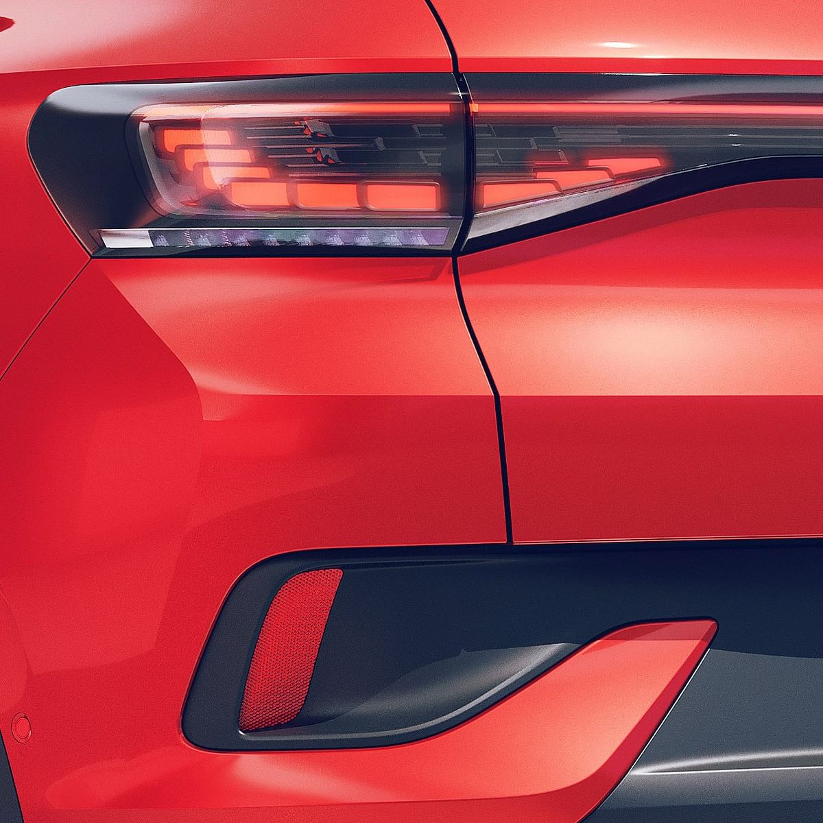The Volkswagen ID.4 GTX gets 3D LED tail lights and a full-width LED light bar