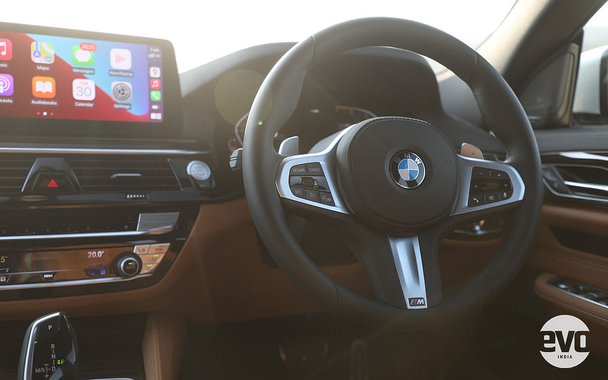 M Sport variants of the BMW 6 Series GT get a different steering wheel