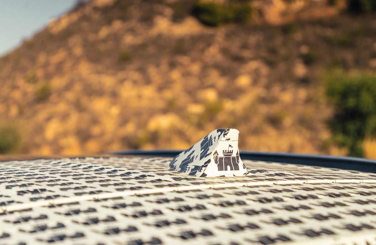 Shark fin antenna on the Hyundai Alcazar