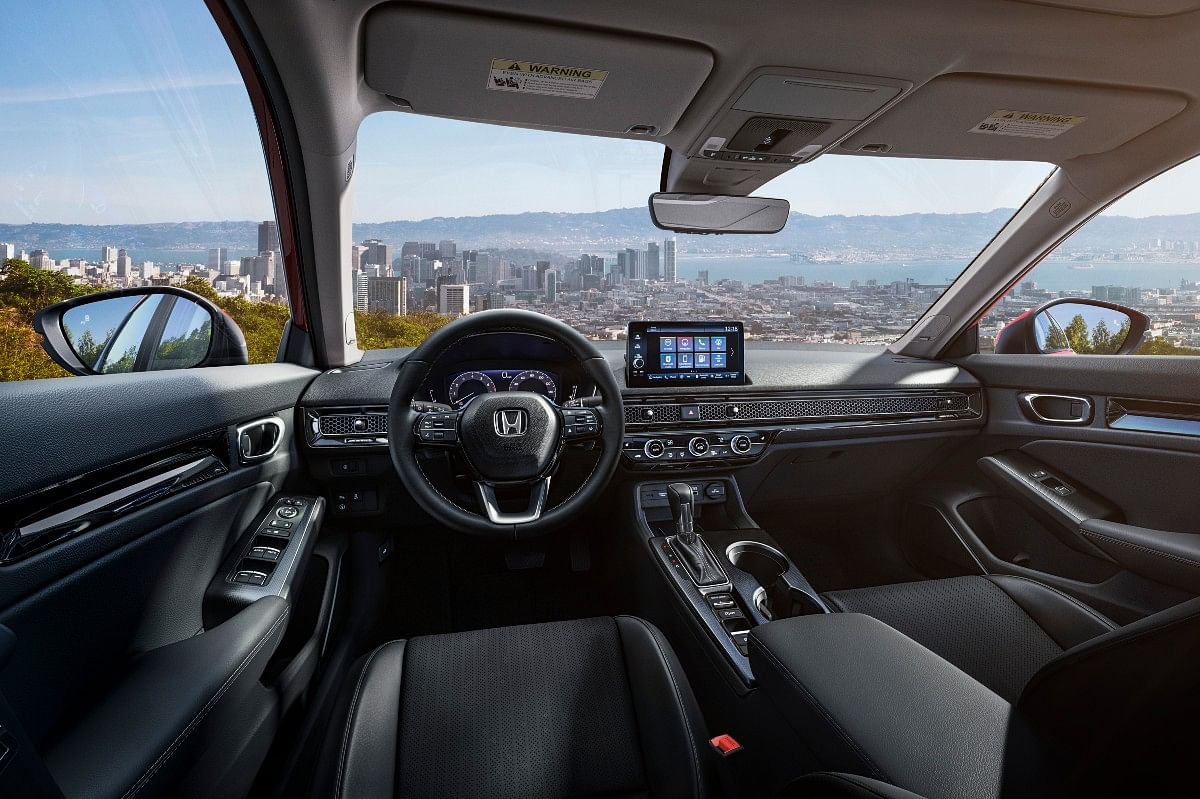 The new Honda Civic gets a simple but premium looking interior