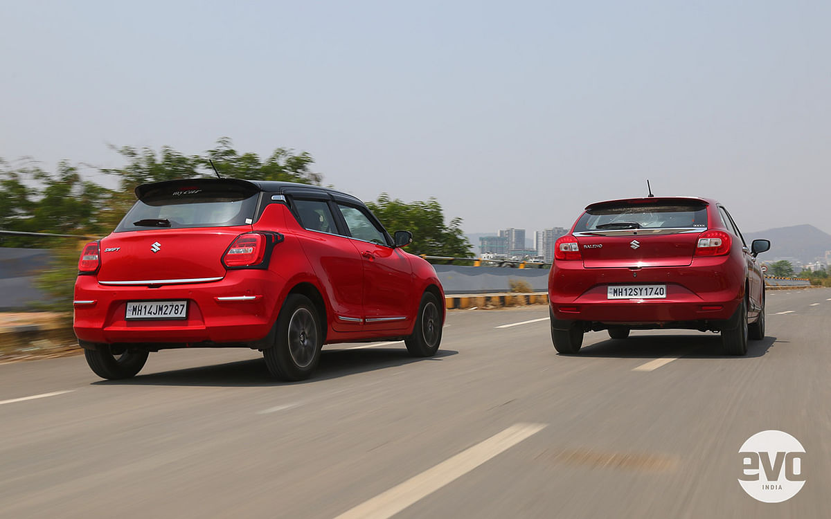 The Swift continues to feel like a go-kart while the Baleno is a bit more laid back