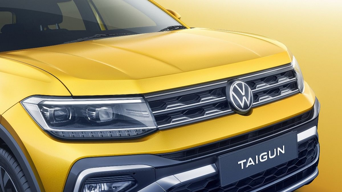 The Volkswagen Taigun gets LED headlights and a front skid plate