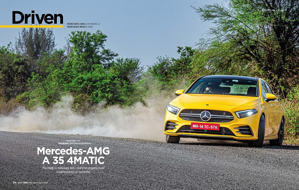 Fun fact, the Sun Yellow colour costs 10 per cent of the A 35 AMG's total price