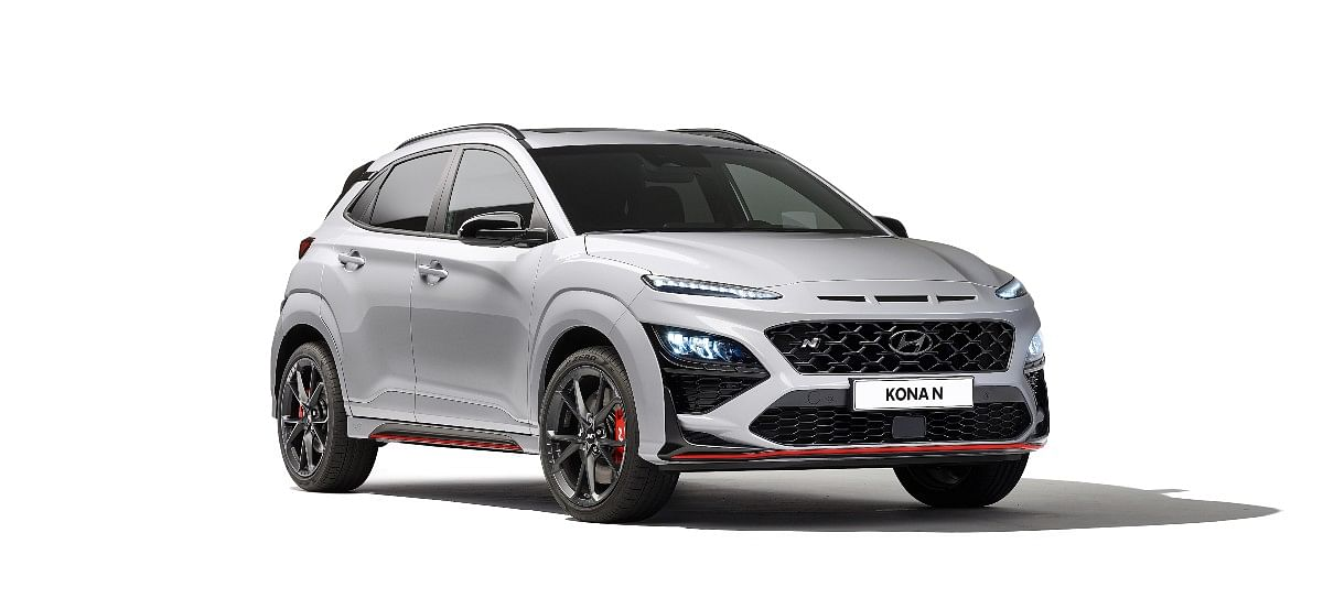 The Hyundai Kona N gets aggressive styling and red accents
