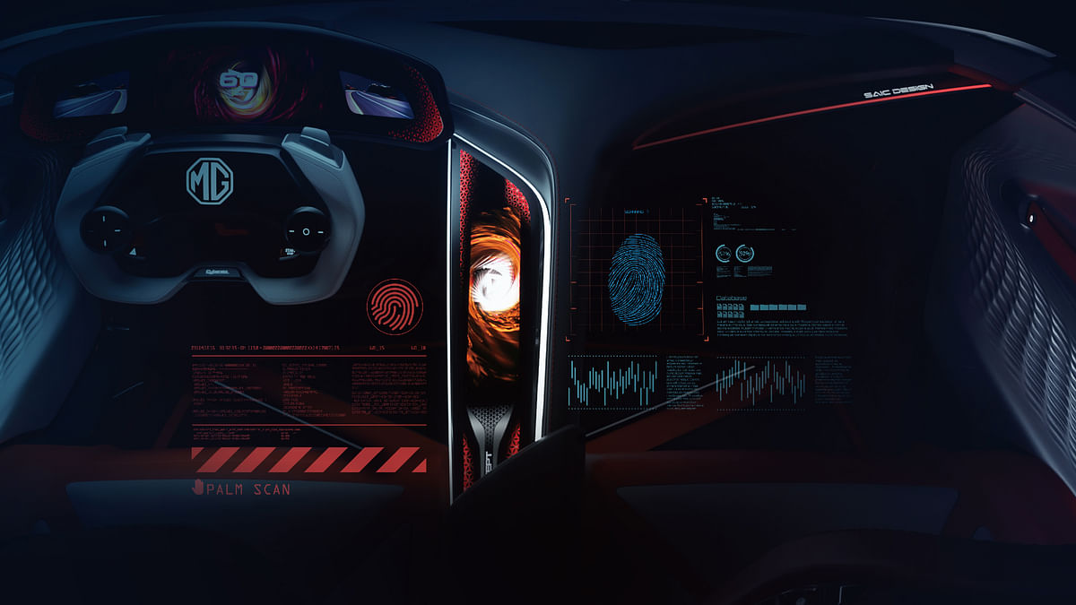 The MG Cyberster's interior is designed to be gamer friendly