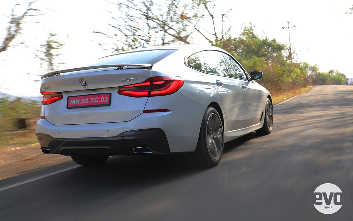BMW 6 Series GT gets a deployable spoiler mounted on the bottled