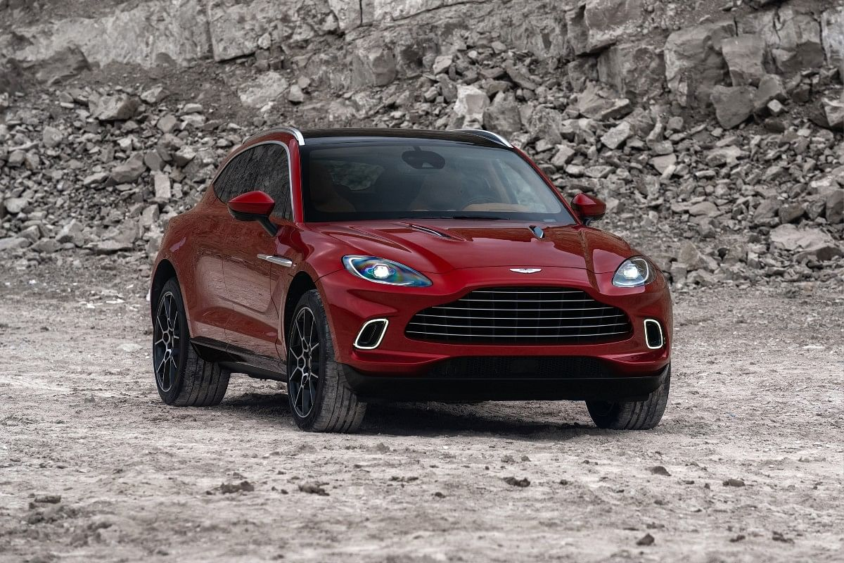 The Aston Martin DBX gets a huge grille upfront that is unmistakenly Aston