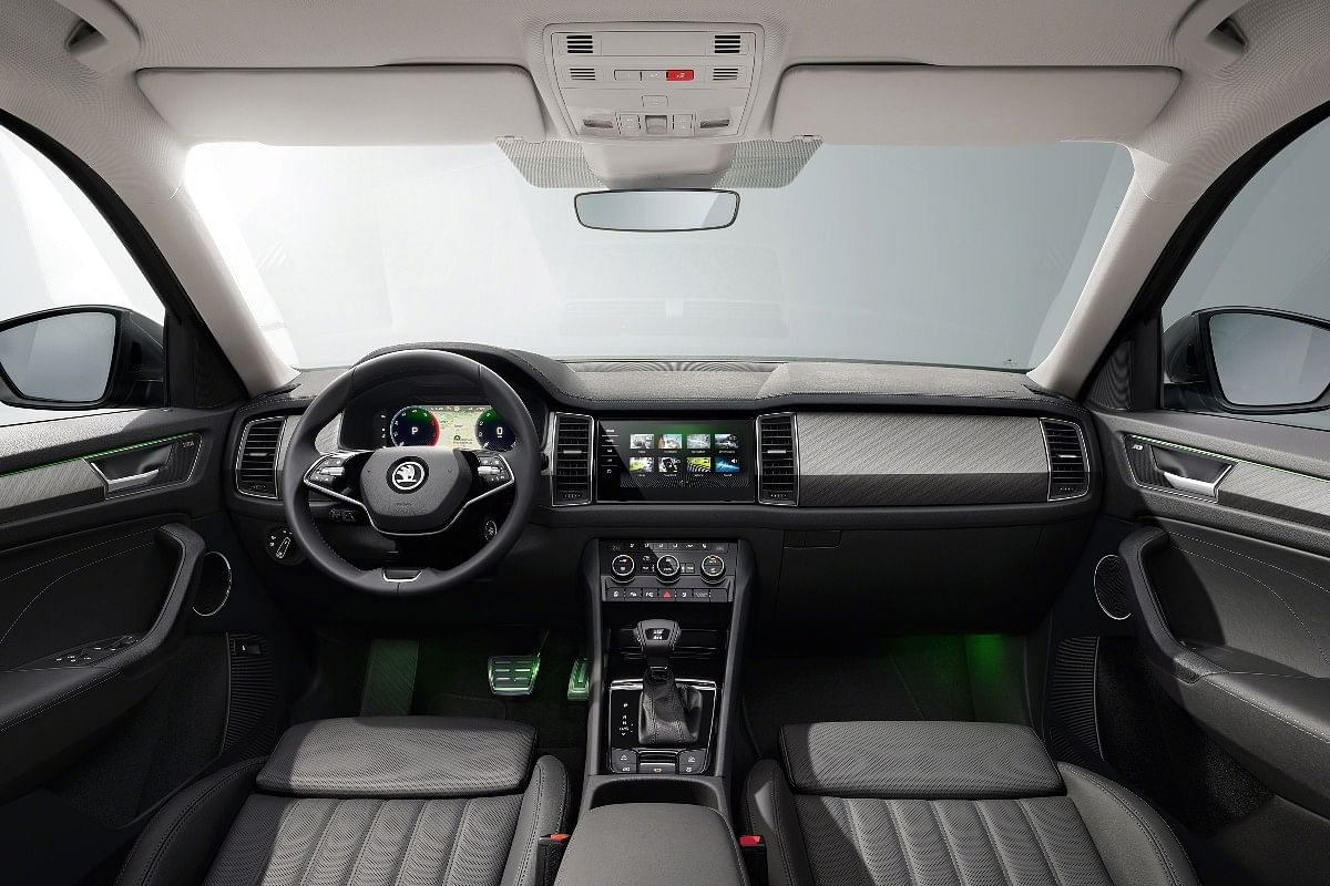 2021 Skoda Kodiaq gets a two-spoke steering wheel and Virtual Cockpit system