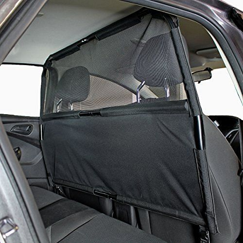 A partition keeps your dogs away from the business end of the car