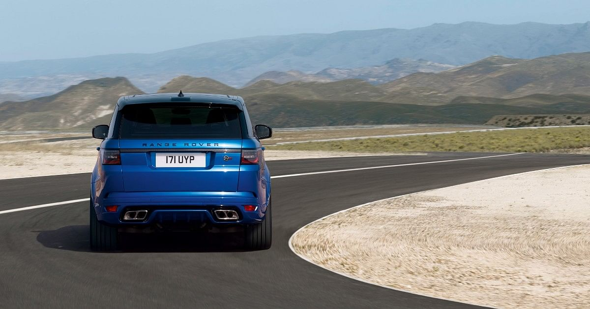 The Range Rover Sport SVR gets quad exhaust pipes and a diffuser at the rear