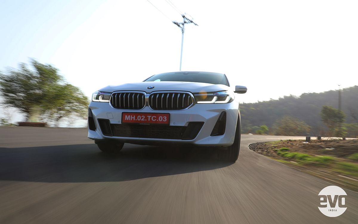 BMW 6 Series GT's grille is bolder and the headlamps now get an L-shaped LED DRL