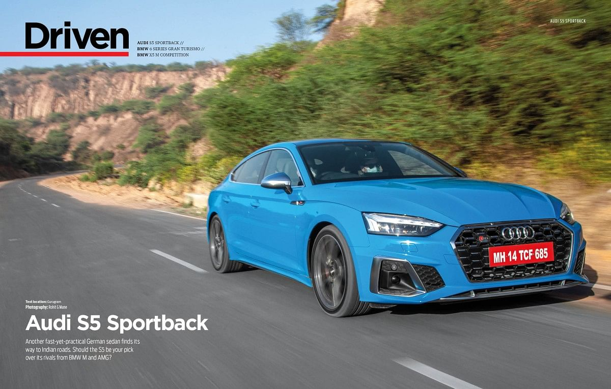 The S5 Sportback looks as fast as it goes!