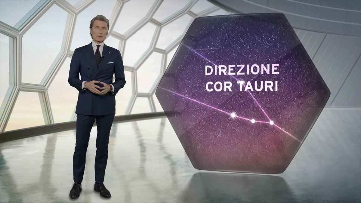 'Direzione Cor Tauri' translates to Towards Cor Tauri'