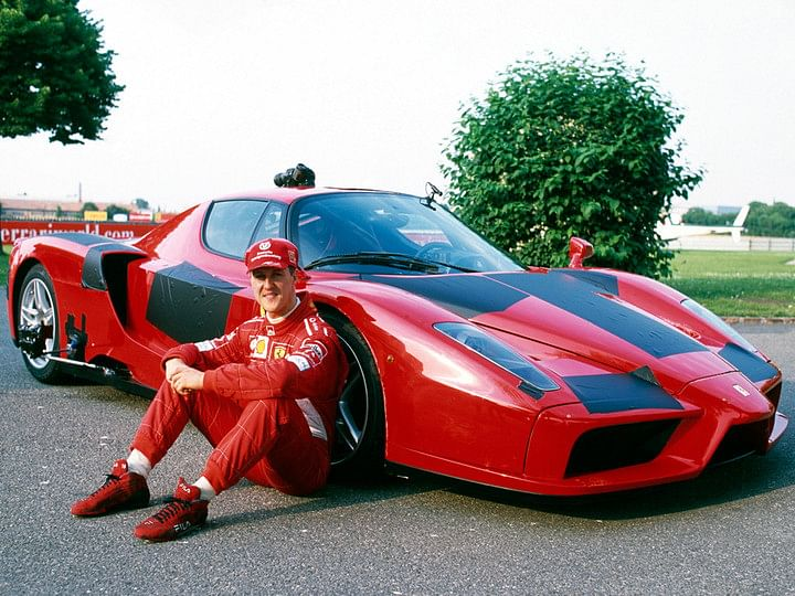 Michael Schumacher played an important role in the development of the Ferrari Enzo