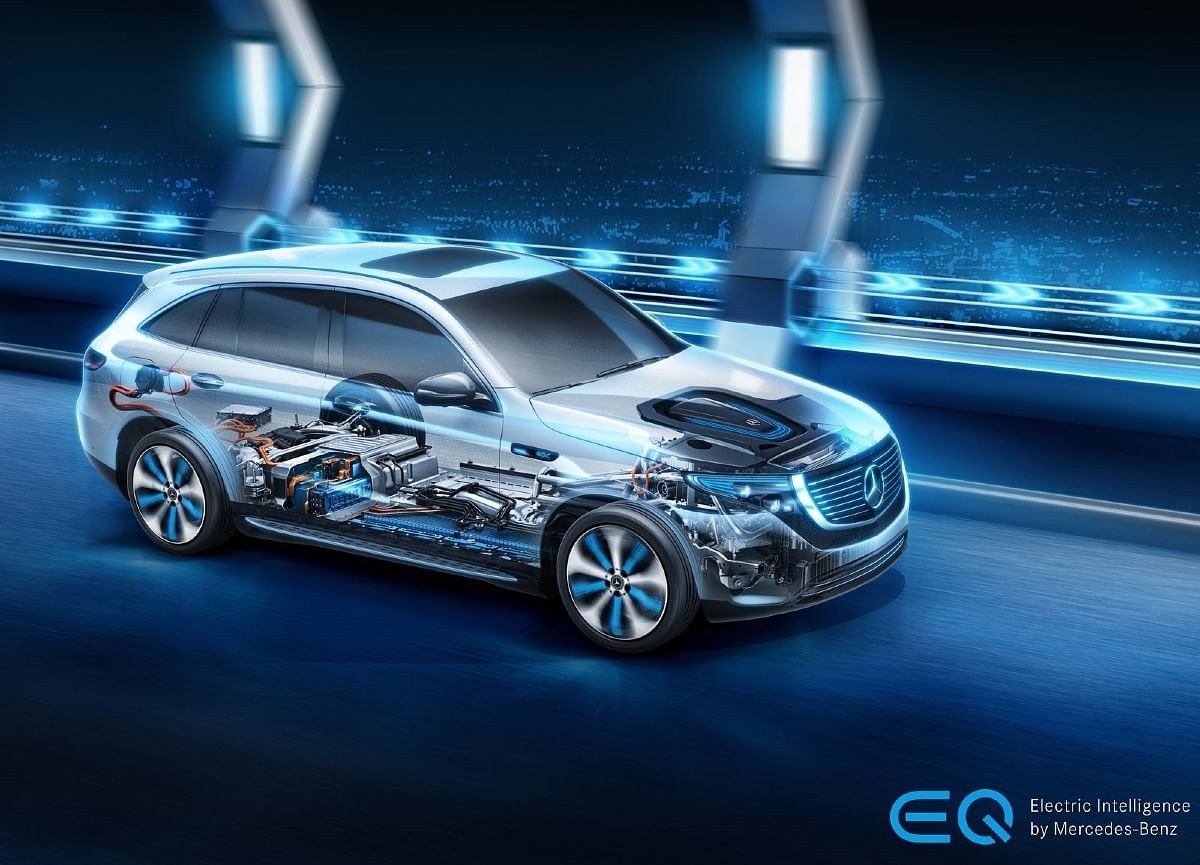 The luxurious EQC gets a single-speed gearbox