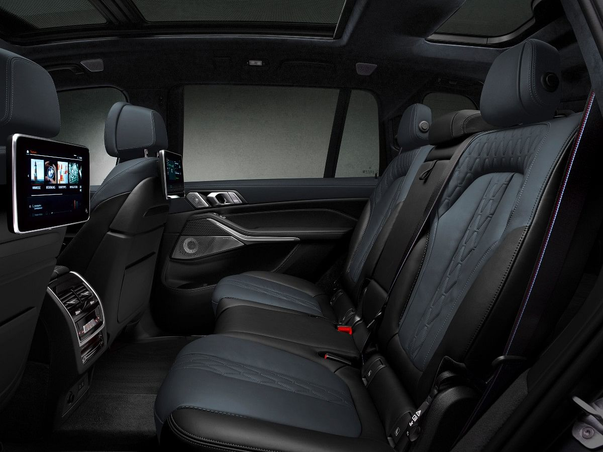 The X7 Dark Shadow Edition gets a panoramic glass roof and rear seat entertainment screens