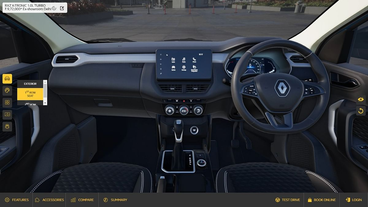 The interior of the Kiger is detailed well on the Virtual Studio