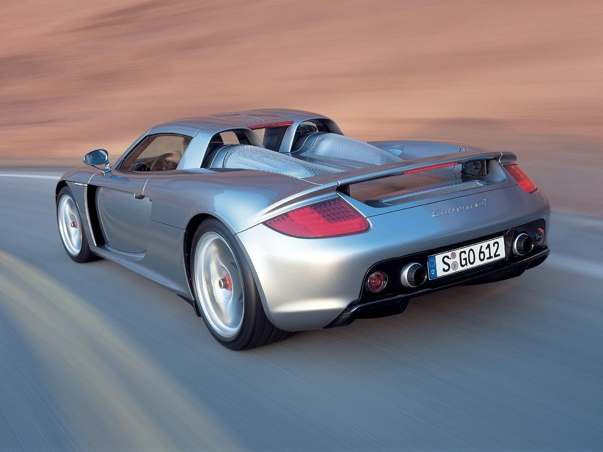 The Porsche Carrera GT was one of the first cars to get an Active rear spoiler