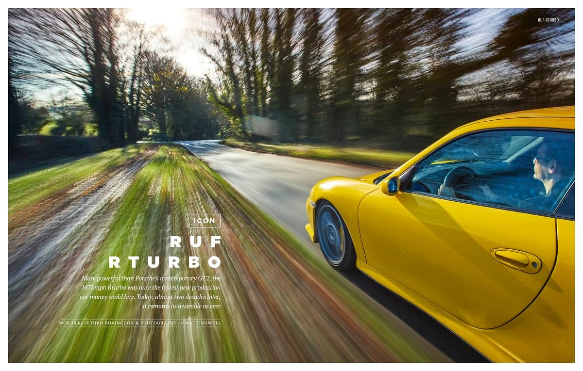 The Ruf Rturbo was the fastest production car in the world at one point!