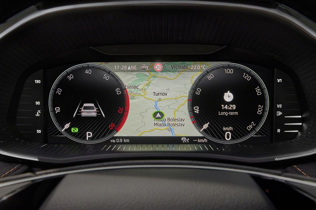 The new Fabia gets Skoda's famed virtual Cockpit digital drivers display