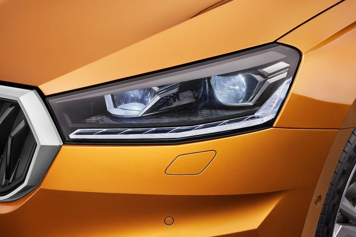 The new Skoda Fabia gets sleek LED headlights