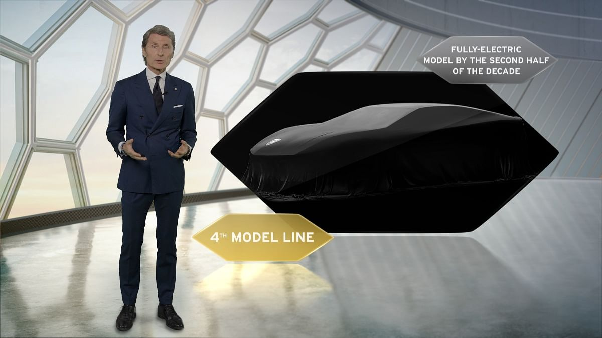 The first all-electric Lamborghini will be the fourth model in the lineup