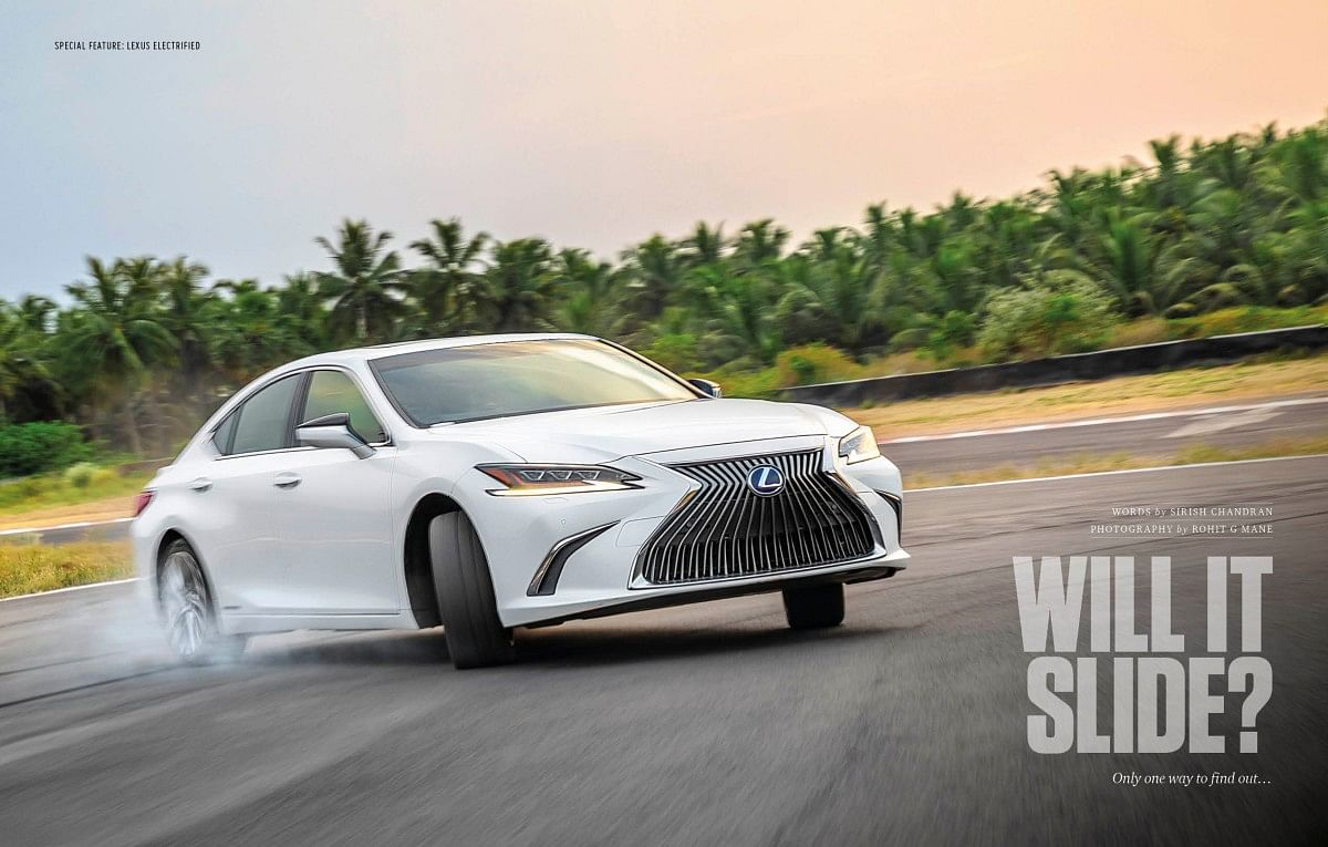 Who says luxury, hybrid-powered saloons can't slide?