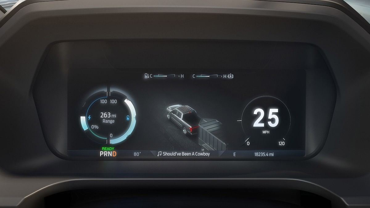 The Ford F-150 Lightning gets a 12-inch digital instrument cluster