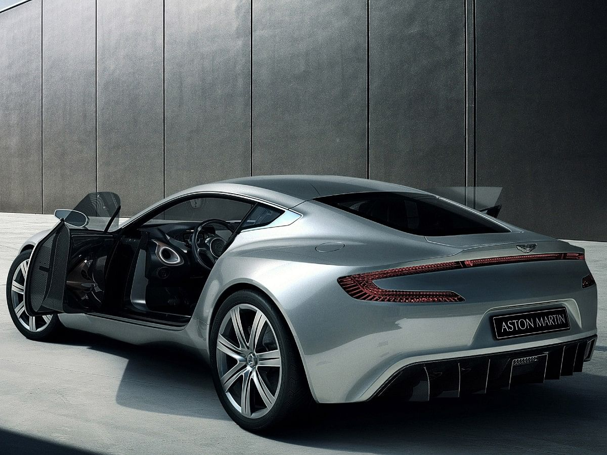 The One-77 featured Aston's signature swan doors