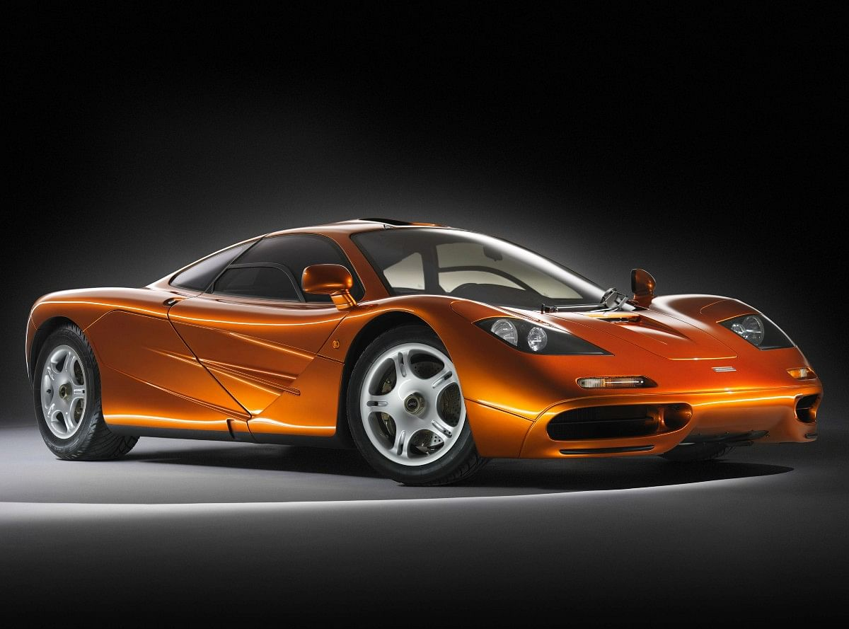 The McLaren F1 is a three seater with a central driving position
