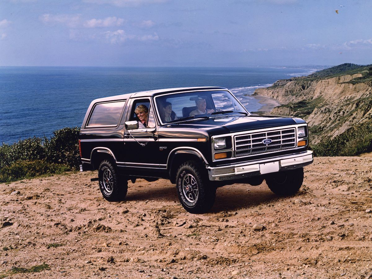 The Rancher heavily draws inspiration from the older Ford Bronco...